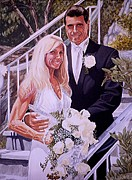 Family Love Paintings - Lori and Joe by Al  Molina