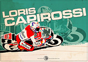 Evan DeCiren Art - Loris Capirossi - 125cc 1991 by Evan DeCiren