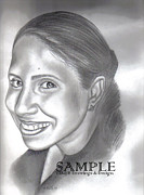 Business Cards Drawings - Lorna Villanueva by Rick Hill