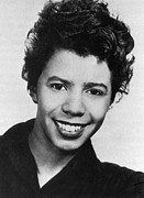 African-american Photo Framed Prints - Lorraine Hansberry Framed Print by Granger