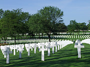 World Changing Prints - Lorraine WWII American Cemetery St Avold France Print by Joseph Hendrix