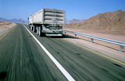 Sami Sarkis - Lorry on highway in Egyp