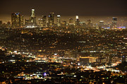 Thelightscene Prints - Los Angeles At Night Print by Bob Christopher