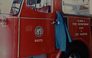 Los Angeles Digital Art Metal Prints - Los Angeles Fire Department Metal Print by Rob Hans