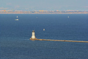 Southern California Photo Originals - Los Angeles Harbor Light - Angels Gate - California by Christine Till