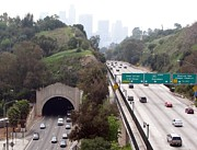 Dodger Stadium Photos - Los Angeles Historic Figueroa Street Tunnel by Jan Cipolla