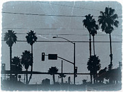 Golden Digital Art Prints - Los Angeles Print by Irina  March