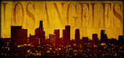 Los Angeles Skyline Digital Art Prints - Los Angeles Print by Ricky Barnard