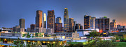 Los Angeles Skyline Framed Prints - Los Angeles Skyline Framed Print by Eddie Yerkish