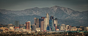 Mountain Range Art - Los Angeles Skyline by Neil Kremer