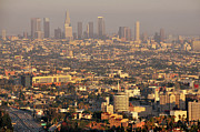 Los Angeles Skyline Framed Prints - Los Angeles Skyline Framed Print by Photo by Seattle Dredge