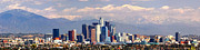 Los Angeles Skyline Framed Prints - Los Angeles Skyline with Mountains in Background Framed Print by Jon Holiday
