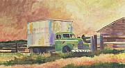 Delivery Truck Paintings - Los Angeles To Seattle by Carol Thompson