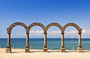 Malecon Posters - Los Arcos Amphitheater in Puerto Vallarta Poster by Elena Elisseeva