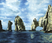 Rock Formation Paintings - Los Arcos by Lisa Reinhardt