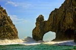 Los Arcos Waves Print by Randy Wehner Photography