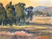 Eucalyptus Paintings - Los Osos Valley - For the Love of the Land - California Landscape Painting by Karen Winters