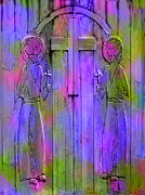 Purple Digital Art - Los Santos Cuates - The Twin Saints by Kurt Van Wagner