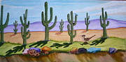Roadrunner Painting Originals - Los Seguaros by Lolita Arquette