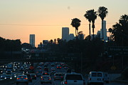 Rush Hours Framed Prints - Losangeles Ahead Framed Print by Jaime  Garcia