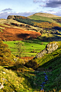 Derbyshire Cross Prints - Lose Hill And Great Ridge Print by Darren Burroughs