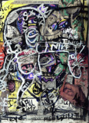 Outsider Art Mixed Media - Losing Face Value by Robert Wolverton Jr