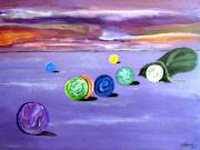 Healing Posters Painting Prints - Losing My Marbles Print by  Laurie Homan