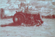 Farming Drawings - Lost America by Thomas Hoyle