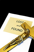 Crucifixtion  Posters - Lost and Found Poster by John Van Decker