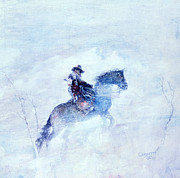 Winter Storm Painting Prints - Lost And Found Print by Rob Corsetti