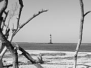 Landmarks Framed Prints - Lost at Sea...Morris Island Lighthouse Framed Print by Elena Tudor