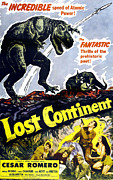 1950s Poster Art Framed Prints - Lost Continent, Lower Right Center Framed Print by Everett