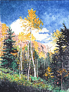 Kerry Neuville Paintings - Lost Creek Gold by Kerry Neuville