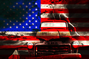 Abstract American Flag Posters - Lost In America Poster by Wingsdomain Art and Photography