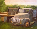 Old Trucks Paintings - Lost in the backwoods by Tate Hamilton