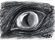 Dinosaur Drawings Originals - Lost in the Eye of Your Past by Elizabeth Harshman