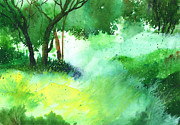 Impressionistic Landscape Drawings - Lost in thought by Anil Nene