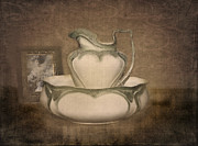 Old Pitcher Prints - Lost in Time Print by Betty LaRue