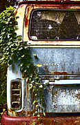 Rusted Cars Photo Acrylic Prints - Lost In Time Acrylic Print by Carolyn Marshall