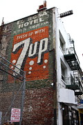 San Francisco Metal Prints - Lost In Urban America - El Rosa Hotel - Tenderloin District - San Francisco California - 5D19351 Metal Print by Wingsdomain Art and Photography