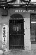Laundromat Posters - Lost In Urban America - Laundromat - Tenderloin District - San Francisco California - 5D19347 - Bw Poster by Wingsdomain Art and Photography