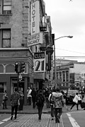 Slum Prints - Lost In Urban America - Warfield Hotel - Tenderloin District - San Francisco California - 5D19353 bw Print by Wingsdomain Art and Photography