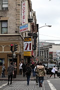 Slum Prints - Lost In Urban America - Warfield Hotel - Tenderloin District - San Francisco California - 5D19353 Print by Wingsdomain Art and Photography