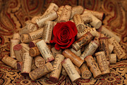 Wine Bottle Pyrography Prints - Lost Love Print by Sinners Andsaintsstudio