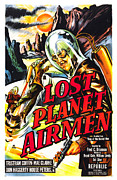 1951 Movies Prints - Lost Planet Airmen, Poster Art, 1951 Print by Everett