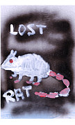 Graffiti Art Painting Originals - Lost Rat by Samuel Zylstra
