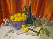 Oil Burner Prints - Lotta Lemons Print by Roger Clark