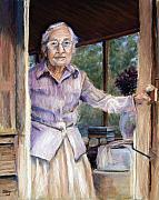 Portrait  Pastels Posters - Lottie the Faithful Servant Poster by Susan Jenkins