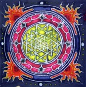 Science Fiction Tapestries - Textiles - Lotus Batik by Kevin Baker