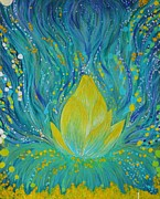 Lotus Bud Paintings - Lotus Blossom by Shrishti Yadav